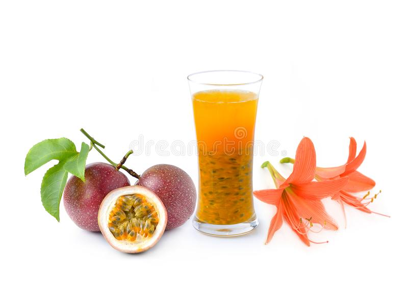 Passion fruit juice stock photography