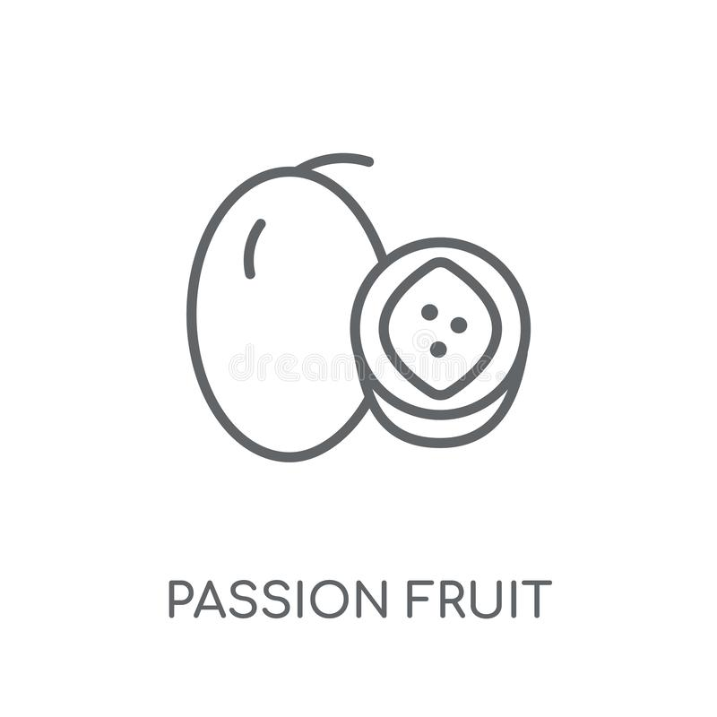 Passion fruit linear icon. Modern outline Passion fruit logo con stock illustration