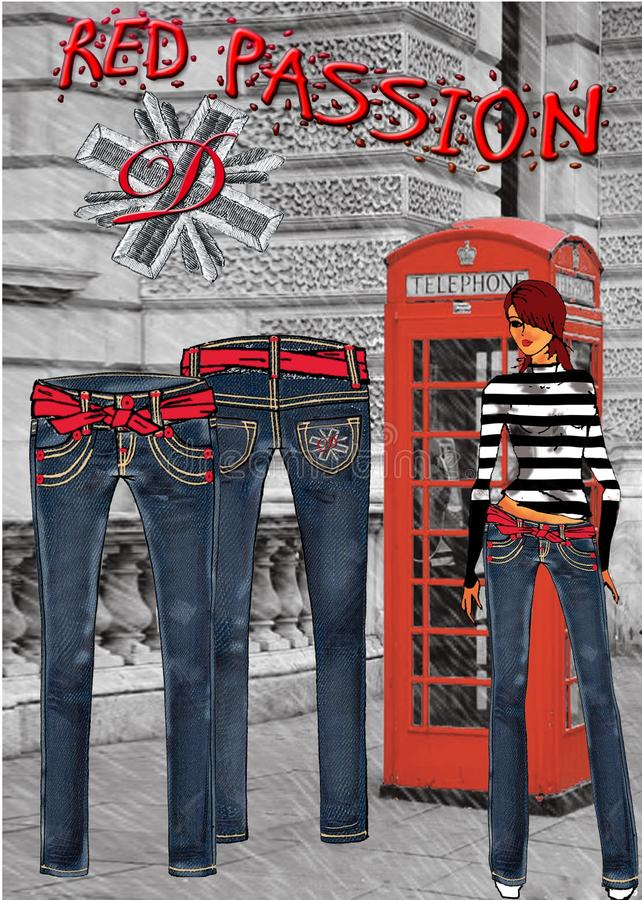 Passion jeans stock photo