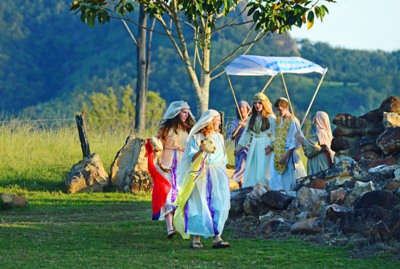 Passion l'épousant sainte chrétienne juive traditionnelle de jeu du Christ photos libres de droits