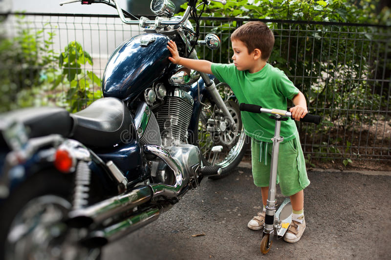 A passion for motorcycles royalty free stock image