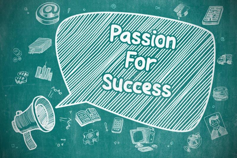 Passion pour le succès - concept d'affaires illustration libre de droits