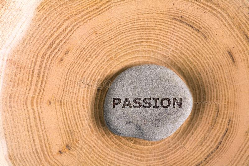 Passion in stone on tree royalty free stock image