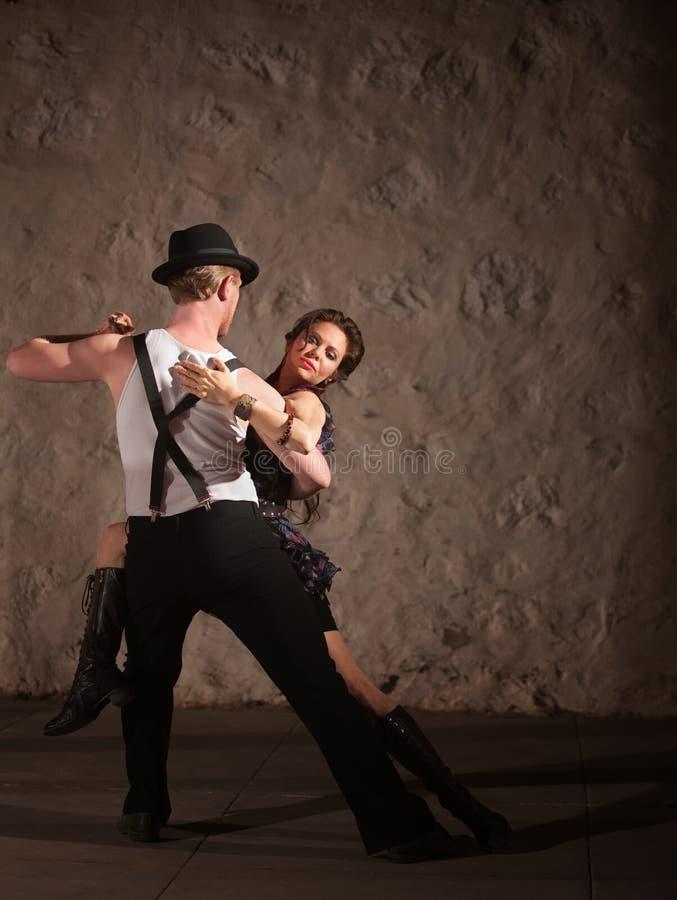 Passionate Dancing in Urban Setting stock images
