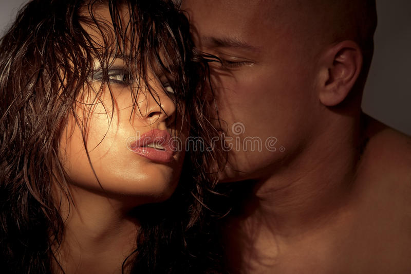 Passionate embraces stock images