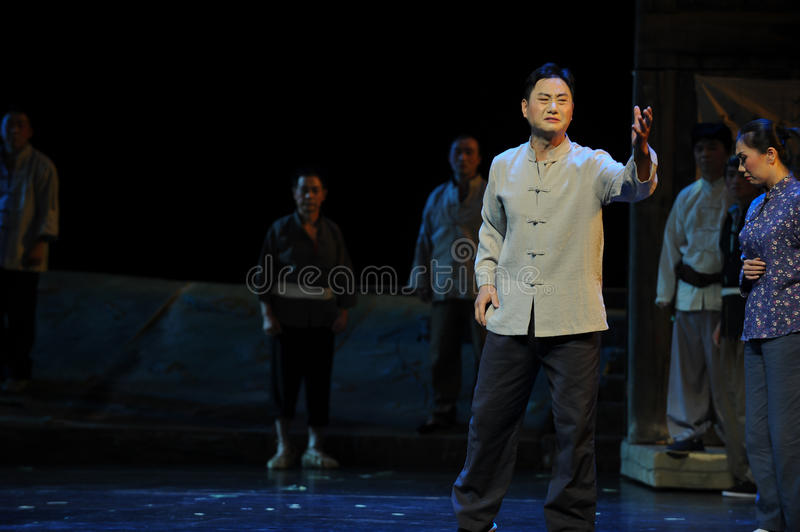 Passionate speech- Jiangxi opera a steelyard. Jiangxi opera a steelyard is adapted from a true story: the last century fortys, the protagonists father runs an royalty free stock image
