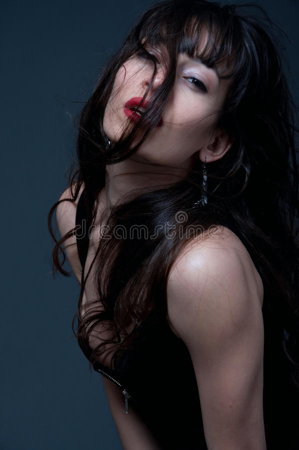 Passionate woman royalty free stock photo