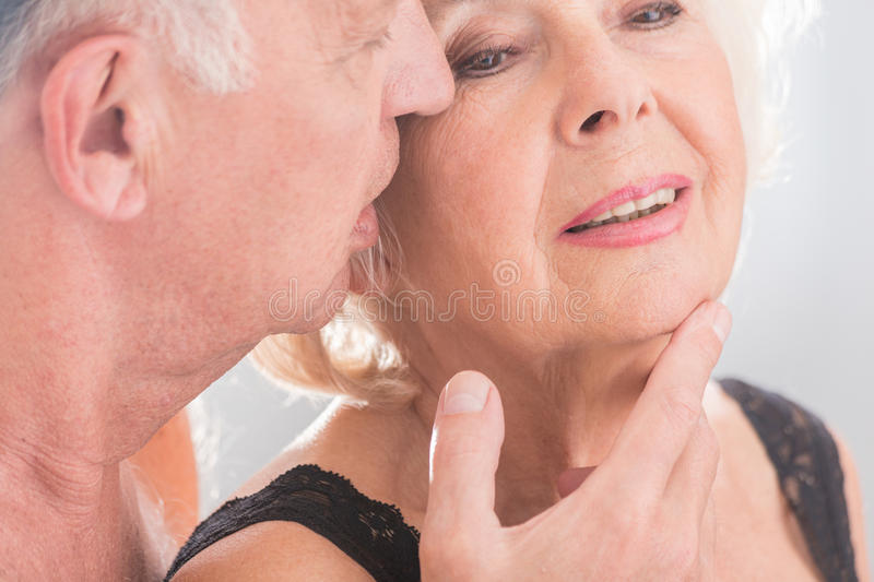 Passionately fond of each other stock image