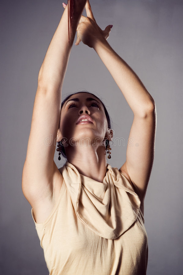 passionerad dansareflamenco arkivbild