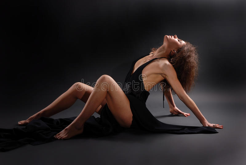 passionerad kvinna royaltyfri foto