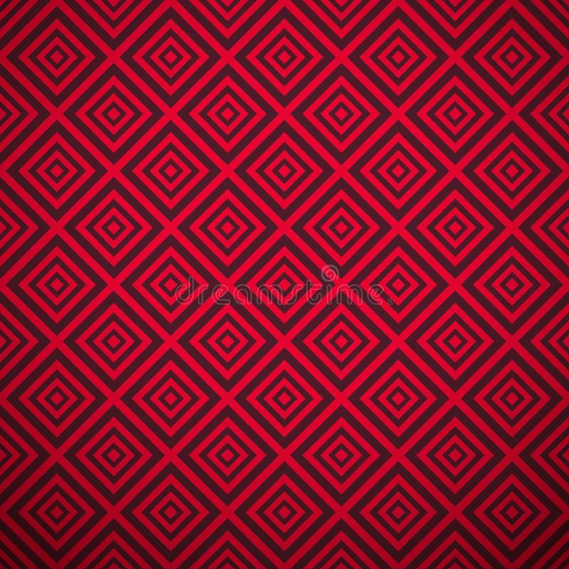 Passionerad vektormodell (att belägga med tegel) Varm röd färg stock illustrationer