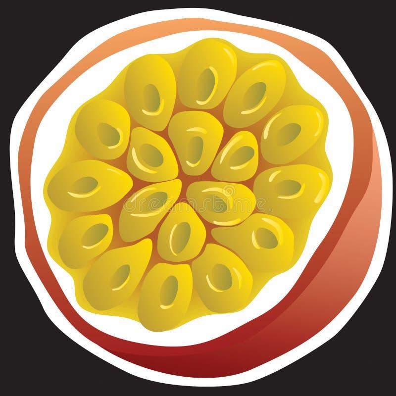 Passionfruit ilustración del vector