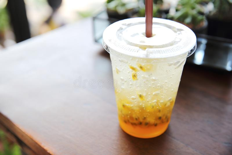 Passion fruit juice royalty free stock images
