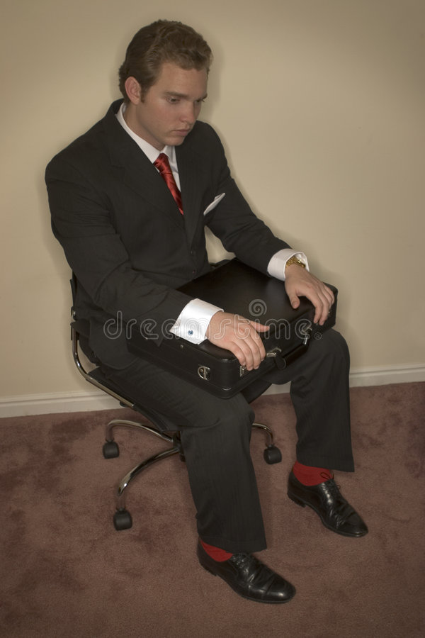 Passionless Business man royalty free stock image