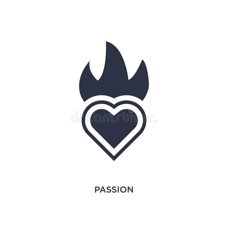 passionsymbol på vit bakgrund Enkel beståndsdelillustration från etikbegrepp stock illustrationer