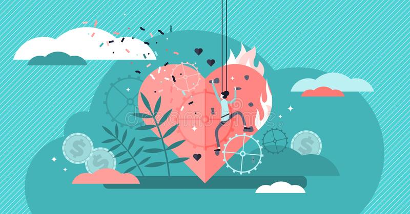 Passionvektorillustration Plant mycket litet begrepp för person för njutningsporthobby royaltyfri illustrationer
