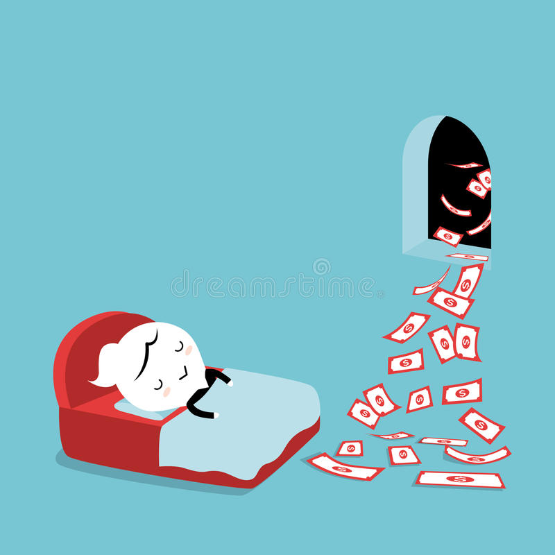 Passiv inkomst stock illustrationer