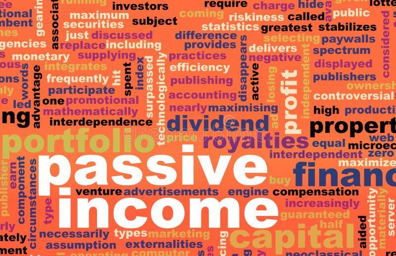 Passiv inkomst vektor illustrationer