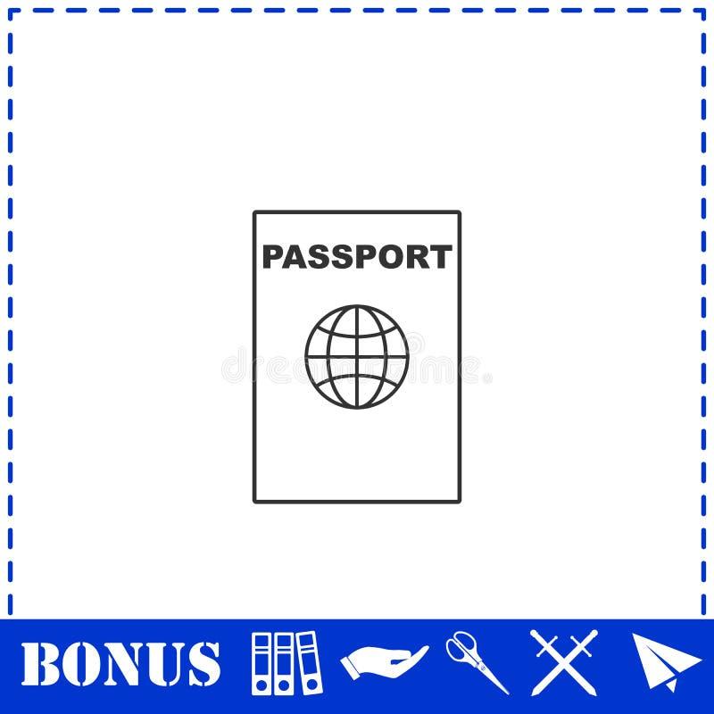 Passlinie Ikone flach lizenzfreie abbildung
