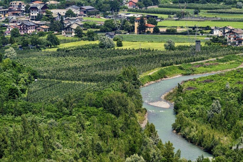Passo小山谷`阿普里卡意大利 图库摄影