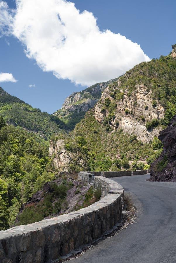 Passo de la Couillole (alpi francesi) fotografia stock libera da diritti