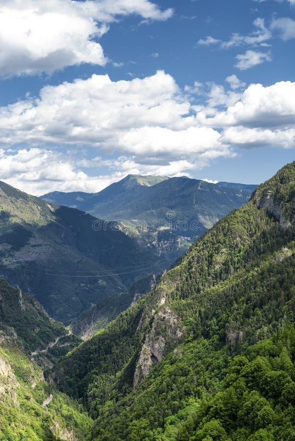 Passo de la Couillole (alpi francesi) fotografia stock