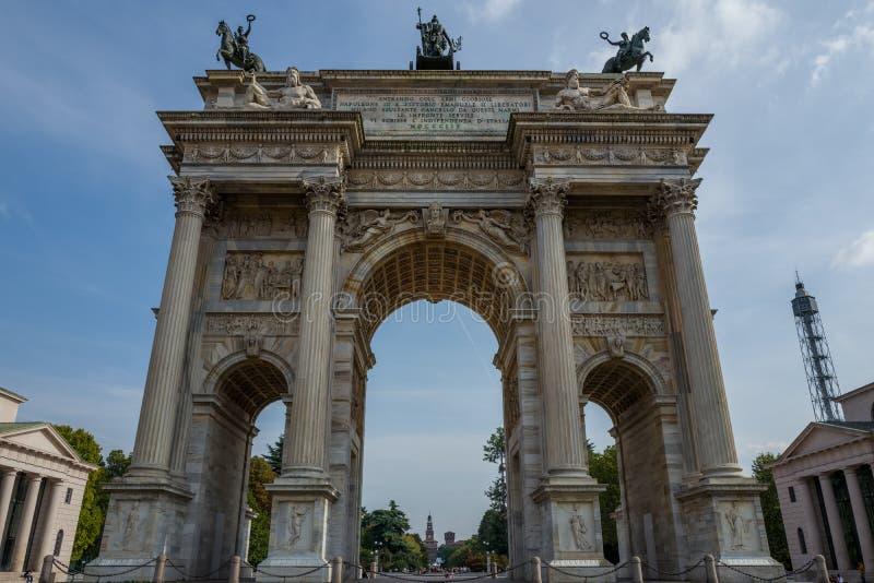 Passo di della del Arco a Milano fotografia stock libera da diritti