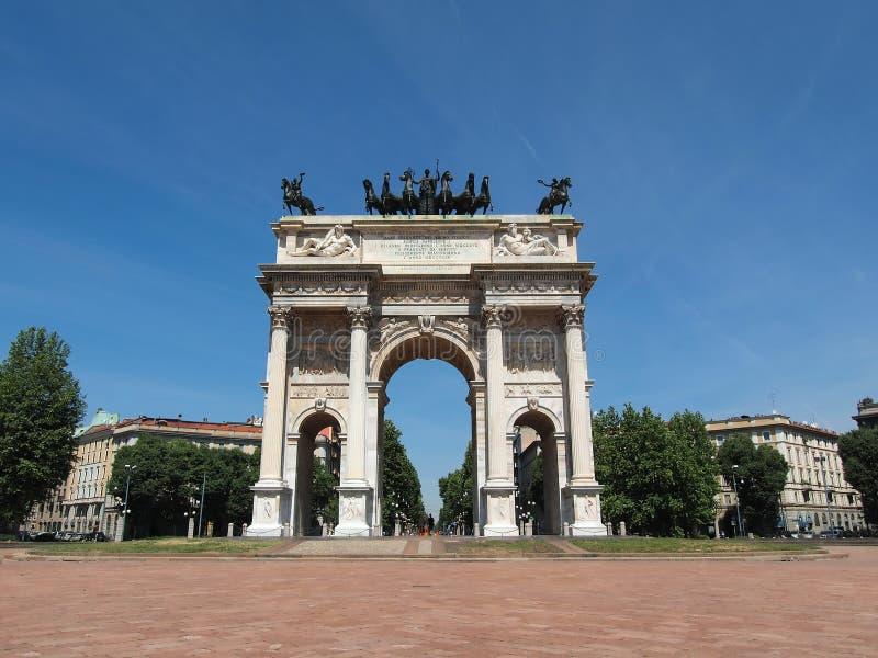 Passo di della del Arco, Milano fotografie stock