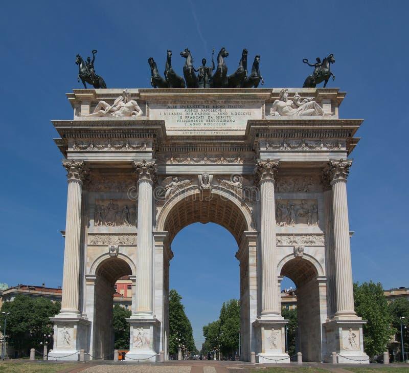 Passo di della del Arco, Milano immagini stock