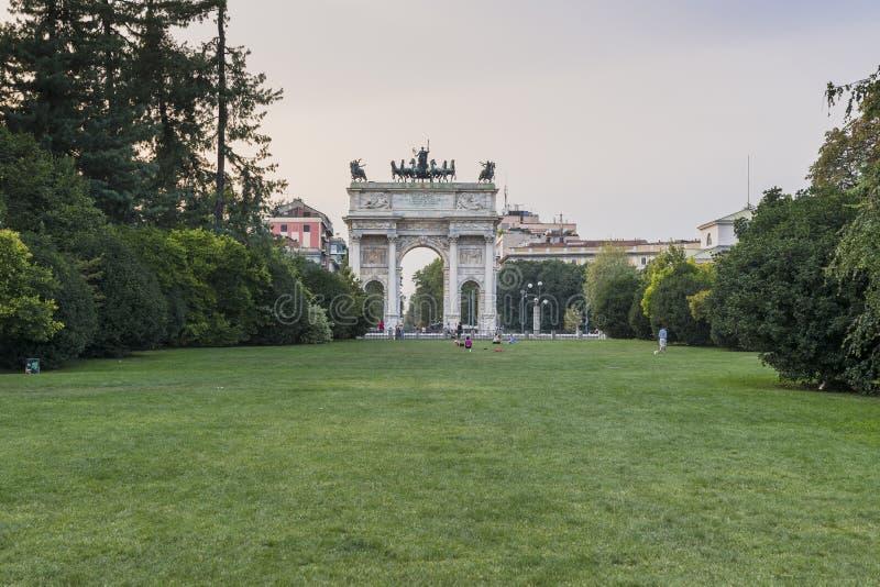Passo di della del Arco - di Milano immagine stock