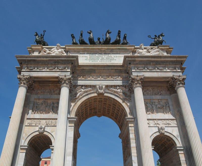 Passo di della di Arco, Milano fotografia stock libera da diritti