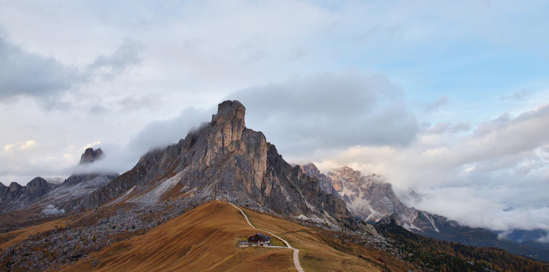 Passo Di Giau, δολομίτες, Belluno, Ιταλία στοκ εικόνες