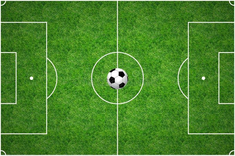 Passo di gioco del calcio fotografia stock