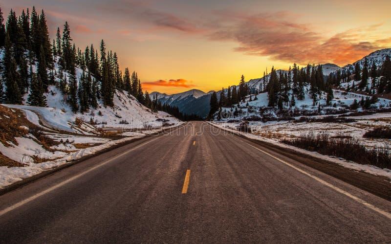 Passo di montagna di Colorado fotografia stock libera da diritti