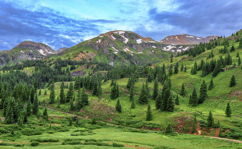 Passo di montagna rosso, San Juan Mountains, Colorado fotografia stock