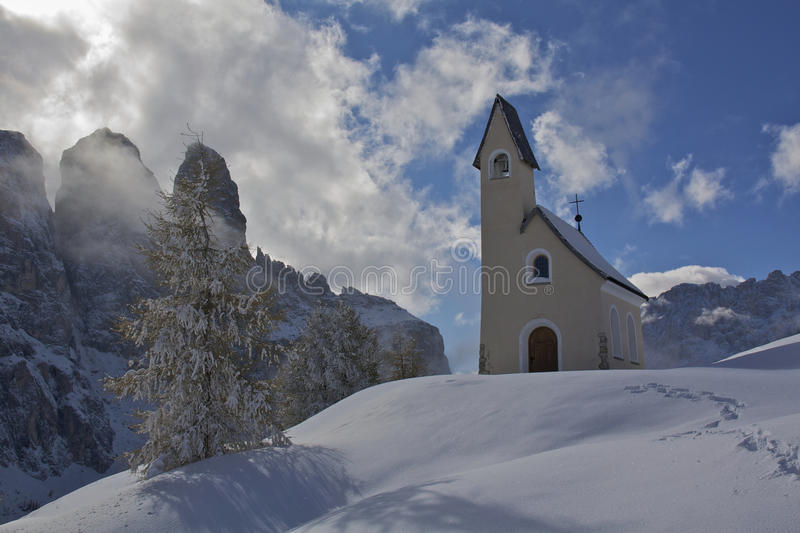 Passo Gardena royalty free stock photography
