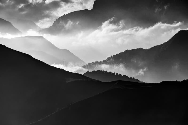 Dolomites, Italy, Sunrise in Giau royalty free stock images