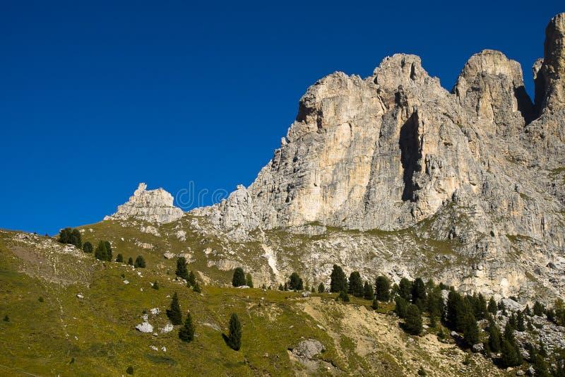Passo Sella, Dolomites Italy stock photo