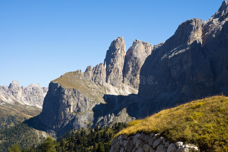 Passo Sella, Italy stock images