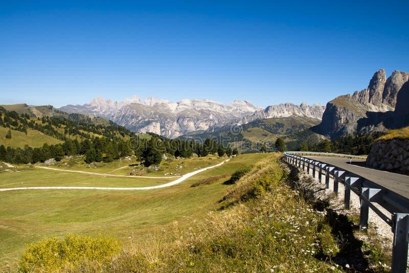 Passo Sella, Italy stock photo