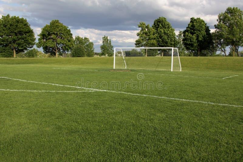 Passo vago do futebol imagens de stock