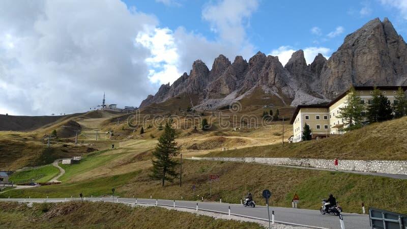 Passo Val Gardena italy stockfoto