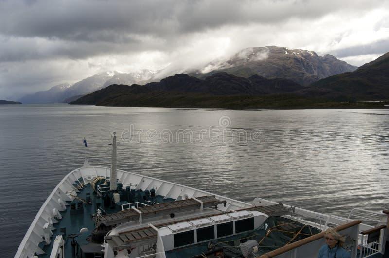 Passos de Magellan o Chile foto de stock