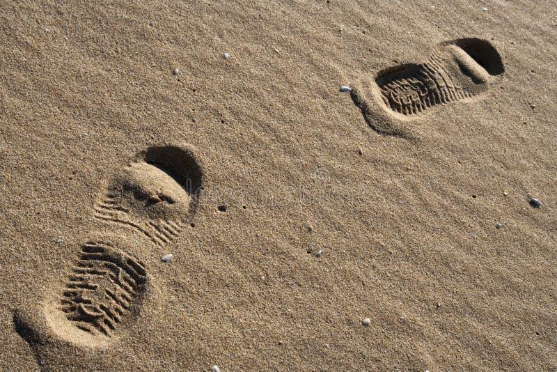 Passos humanos imagem de stock. Imagem de areia, andar - 35548871
