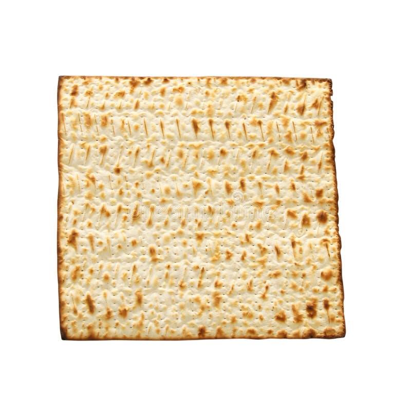passover achtergrond met matzoh op wit wordt geïsoleerd dat royalty-vrije stock foto's