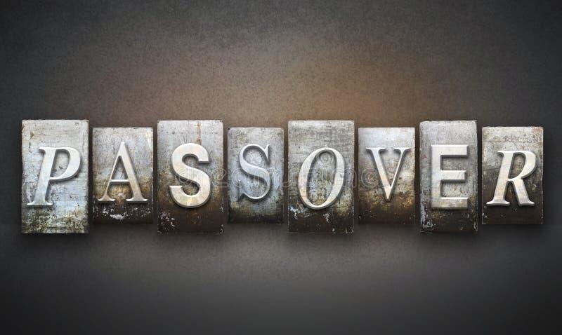 Passover Letterpress obraz stock