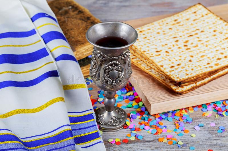 Pesach Passover symbols of great Jewish holiday. Traditional matzoh. Passover matzoh pesach symbols of great traditional jewish holiday passover judaism stock photography