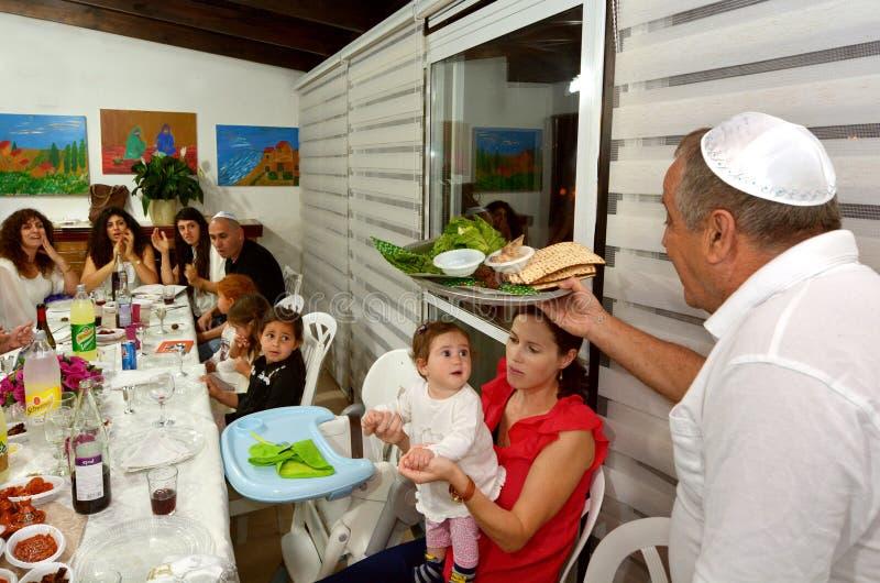 Passover Seder - εβραϊκές διακοπές στοκ εικόνα