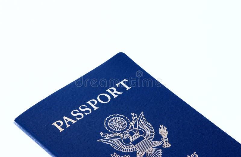 Passport. A us passport on white stock image