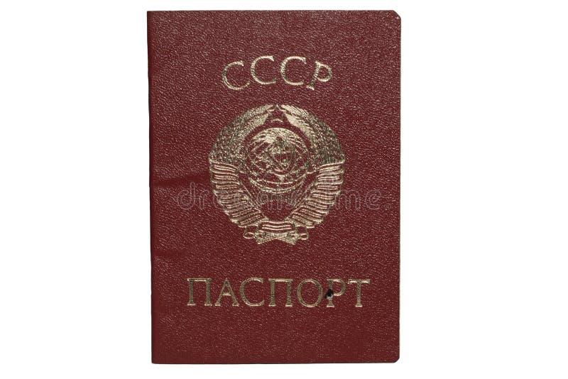 Passport. Soviet Passport on a white background stock photo